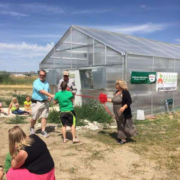 Ribbon Cutting for Evansville Elementary Greenhouse